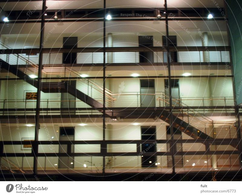 Architecture Glass Facade Stairs Level