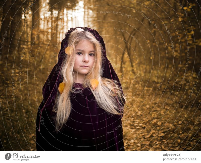 Autumn girl Human being Child Girl Body Head Hair and hairstyles Face Eyes Nose Mouth Lips 1 3 - 8 years Infancy Environment Nature Landscape Sun Tree Grass