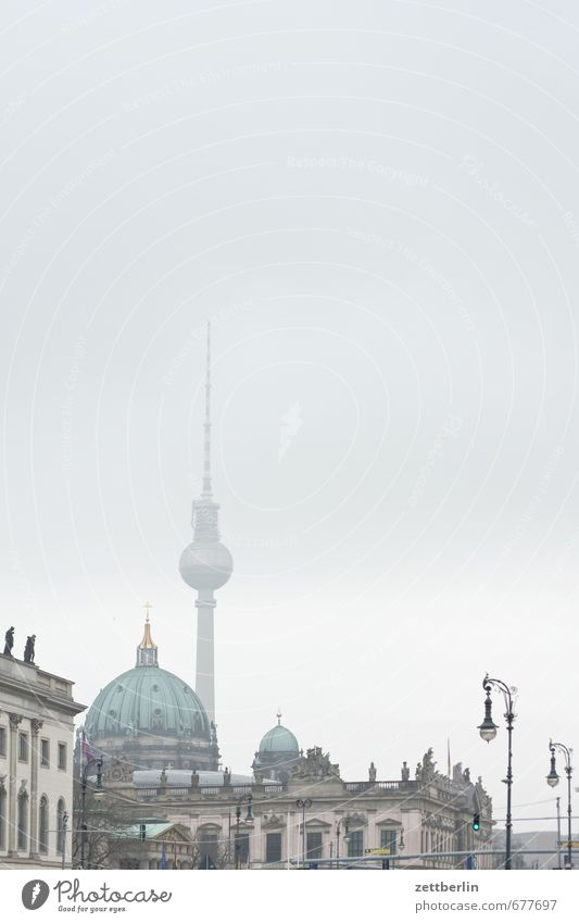 Text space with television tower wallroth Berlin Germany Capital city Berlin TV Tower Alexanderplatz alex Dome Religion and faith Church