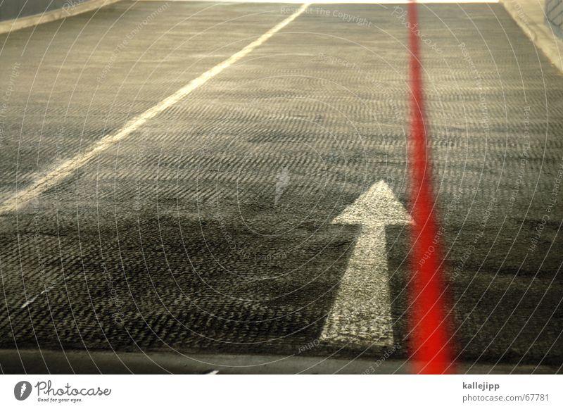 Red Street Arrow Curve Sewing thread Parking garage Orientation Knit Handbook Right ahead