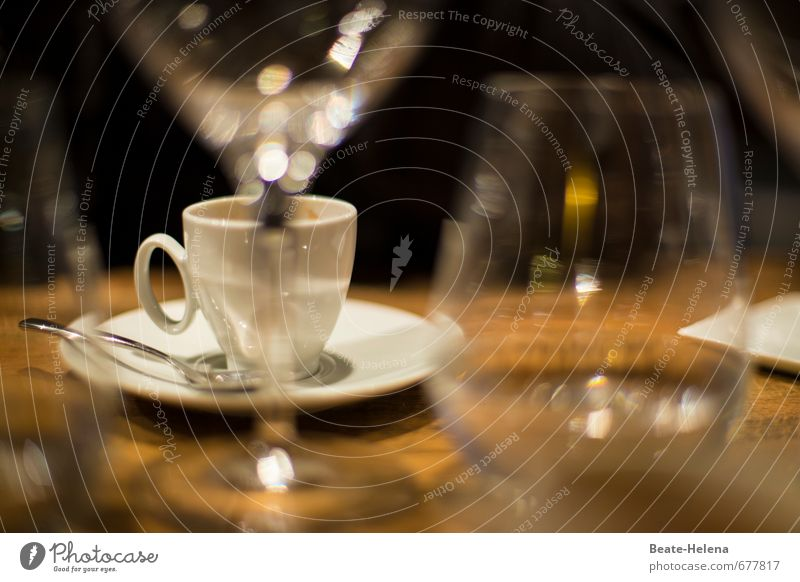from aperitif to digestif Nutrition Beverage Coffee Spirits Wine Crockery Cup Glass Lifestyle Kitchen Relaxation To enjoy Esthetic Brown White Emotions Aperitif