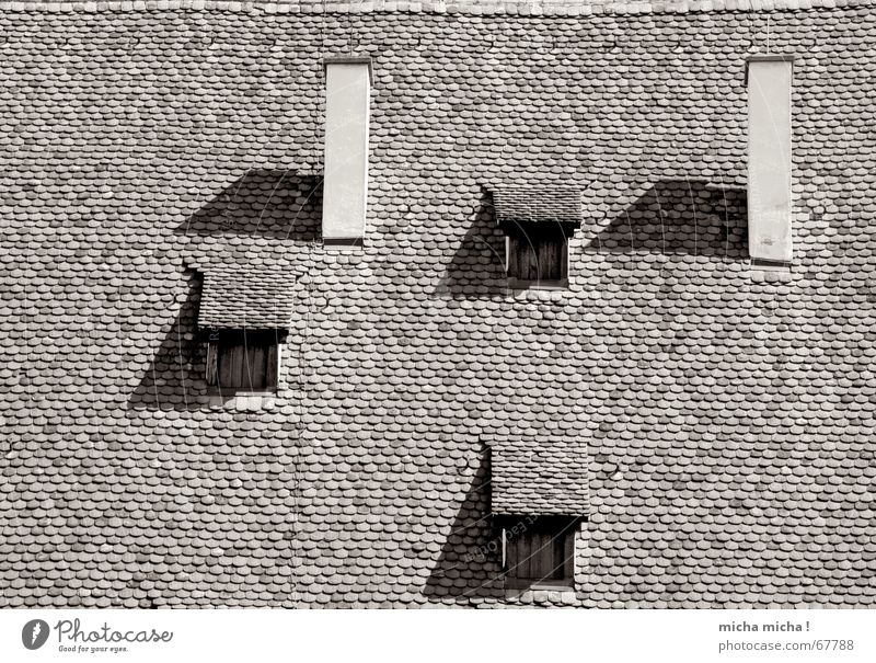 peepholes Window Roof Brick Maulbronn monestary Triangle Rectangle Chimney Shadow Monastery