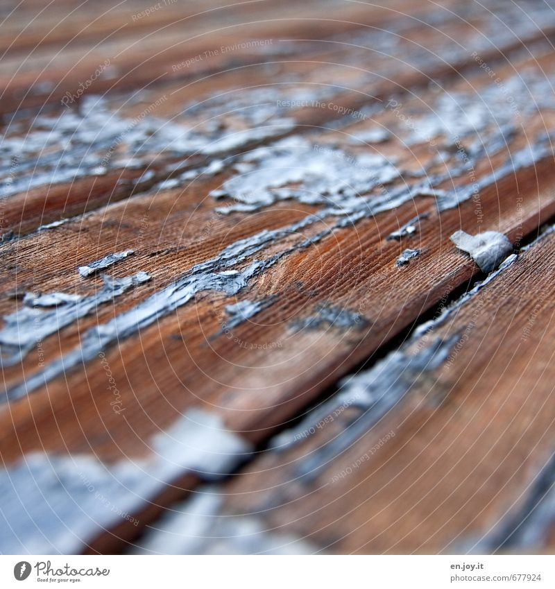 Blue Old Colour Senior citizen Wood Brown Facade Broken Transience Painting (action, work) Past Decline Craft (trade) Wooden board Destruction Flake off