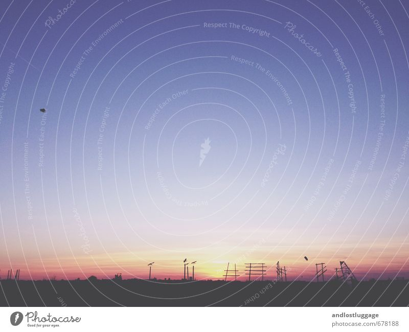 Weather | nice is the evening (2014) Nature Landscape Horizon Sunrise Sunset Spring Climate Park Berlin Deserted Tourist Attraction Airport Runway Looking