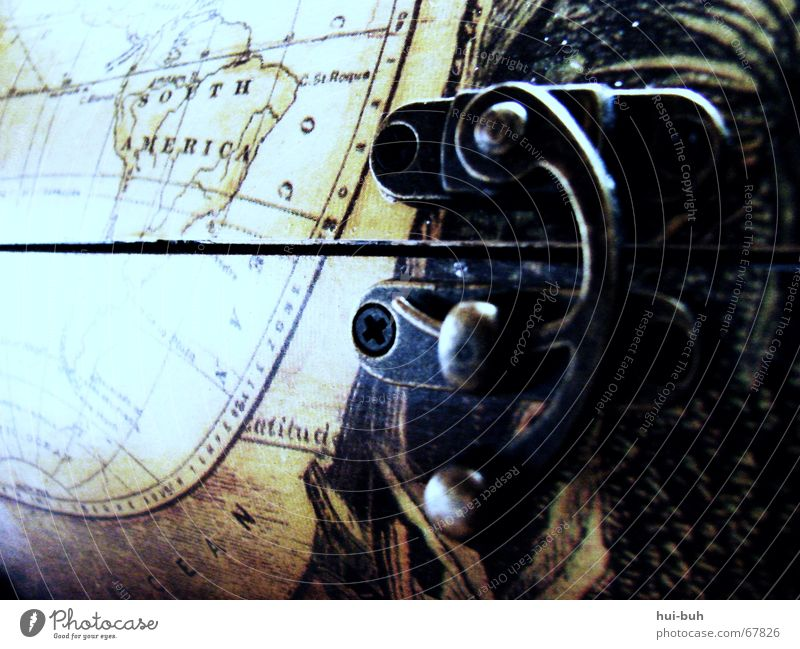 the key to the other world Treasure chest Map of the World Opening Closed South America Chest Wood Find Discover Watercraft Lake Castle Earth Metal Mysterious