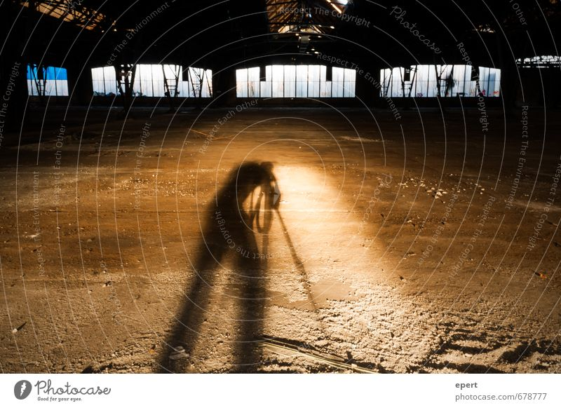ut ruhrgebiet | Parable of a cave Leisure and hobbies Take a photo Human being 1 Artist Industrial plant Factory Ruin Window Tripod Shadow Shadow play Observe
