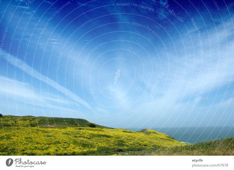 Sky Ocean Green Blue Plant Clouds Meadow Long Pacific Ocean