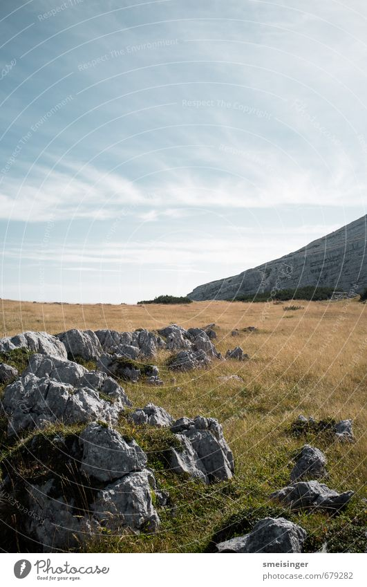 Rohan Sky Nature Blue Green Summer Landscape Calm Mountain Environment Grass Natural Gray Stone Rock Alps Peace
