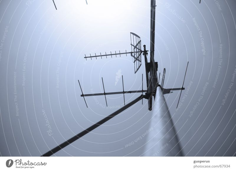 Old Above Technology Roof Television Top Radio (broadcasting) Antenna Software Transfer Capture Intensifier Broadcasting