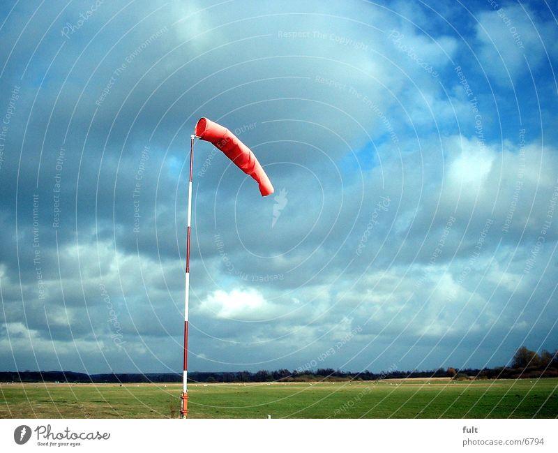 wind sleeve Windsock Sack Red Things land Sky Contrast