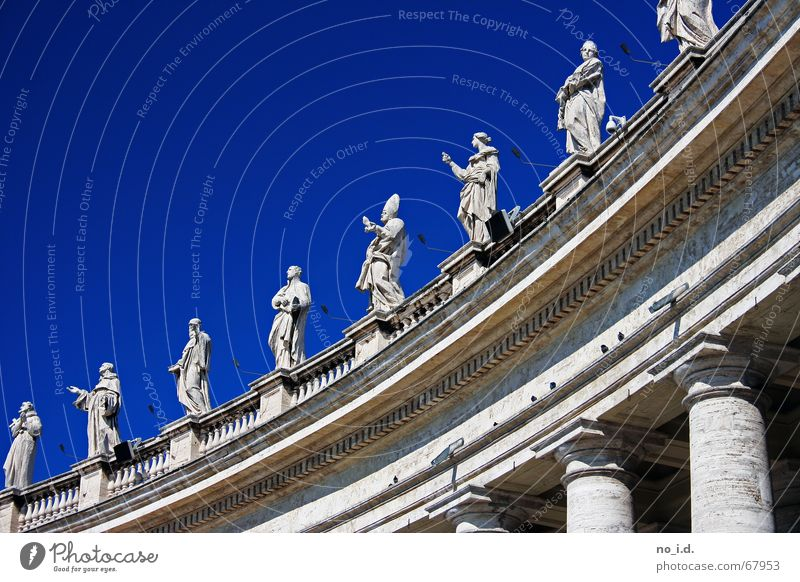 All that is holy Holy Prayer Rome Peter's square Exterior shot Bible Sky Blue prister sacredness Pope Religion and faith Marble Stone