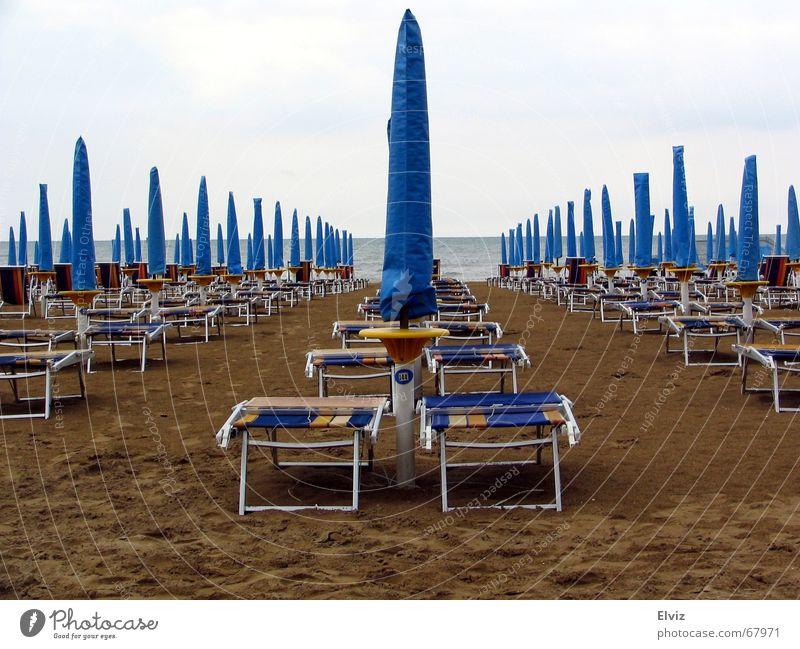 Sun Blue Beach Clouds Cold Sadness Sand Weather Grief Gloomy Umbrella Deckchair