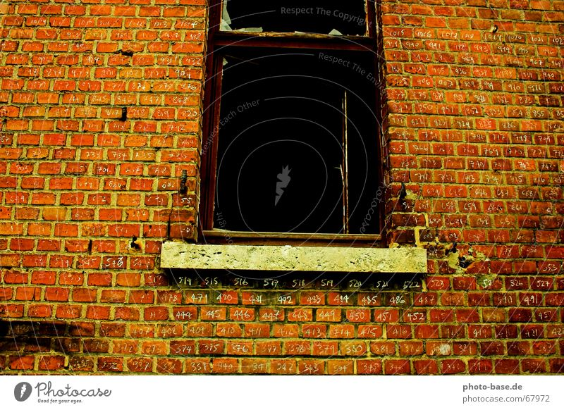 Red Window Brick Typography Penitentiary Brick red