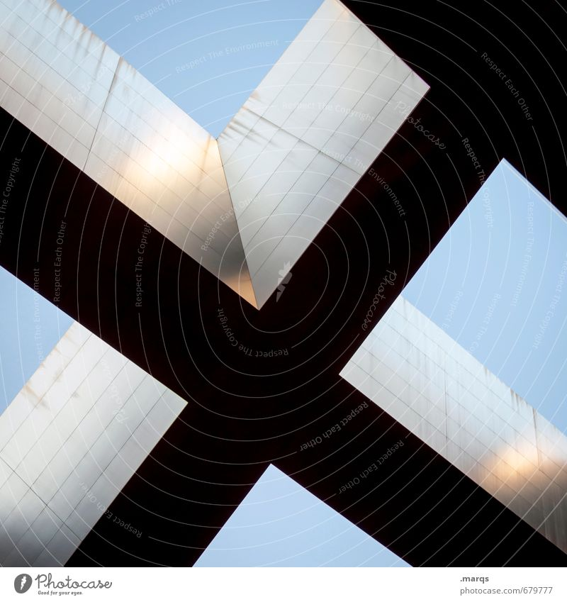 Blue Black Architecture Style Gray Exceptional Above Elegant Design Modern Perspective Stripe Illustration Cool (slang) Manmade structures Cloudless sky