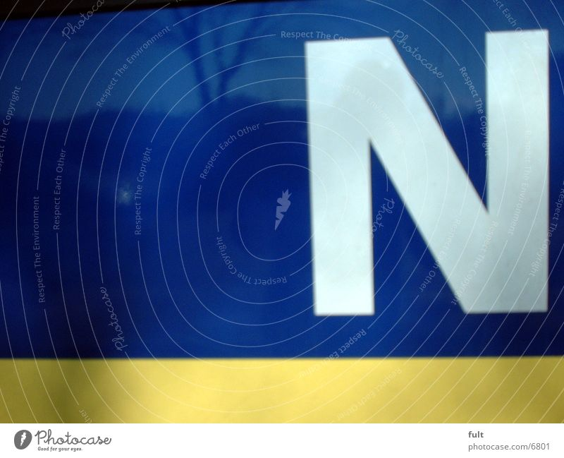 capital N Letters (alphabet) Large Yellow White Things Blue Characters
