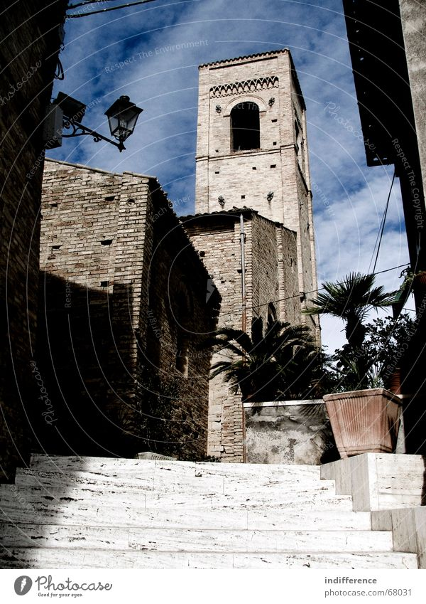 Torre di Palme bell tower Italy medieval town building Monument historical street church