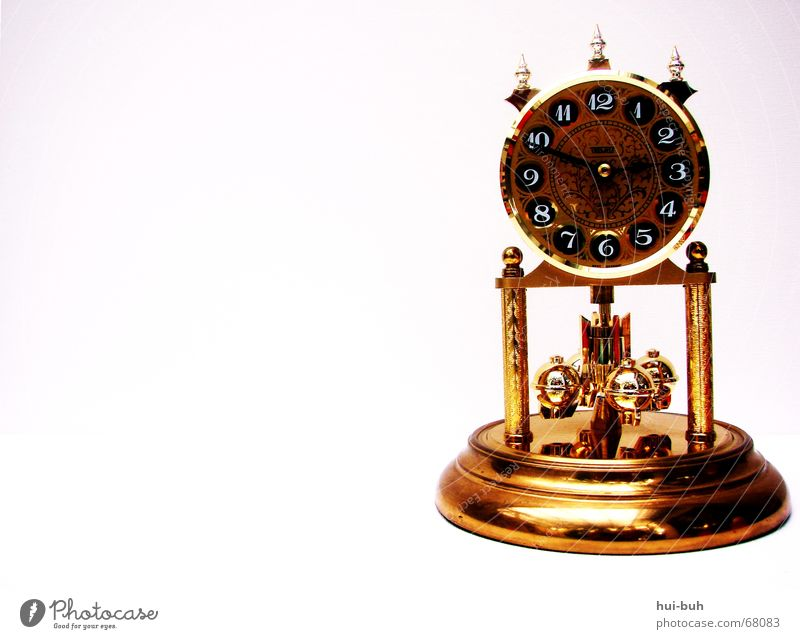 Glittering Gold Tower Clock Digits and numbers 10 12 Subsoil Bell Alarm clock Prongs 11 Clock hand