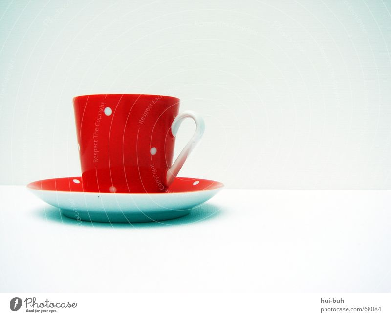 a cup of tea? Cup Red Saucer Spotted White Baked goods Teatime Earl Grey tea Jug micky mous crotch Loneliness english tea tea set Nutrition Shadow