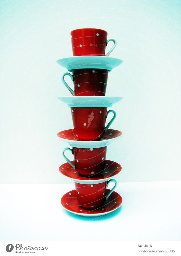 Line Modern Dangerous Tall Electricity Tower Cup Stay Tumble down Saucer Shaky