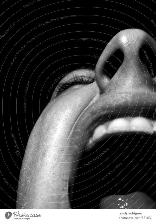 White Joy Face Black Eyes Gray Mouth Fear Skin Nose Teeth Open Lips Scream Pain Tongue