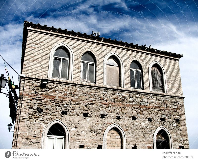 Torre di Palme city hall Sky Italy Marche medieval town Monument historical building clouds windows