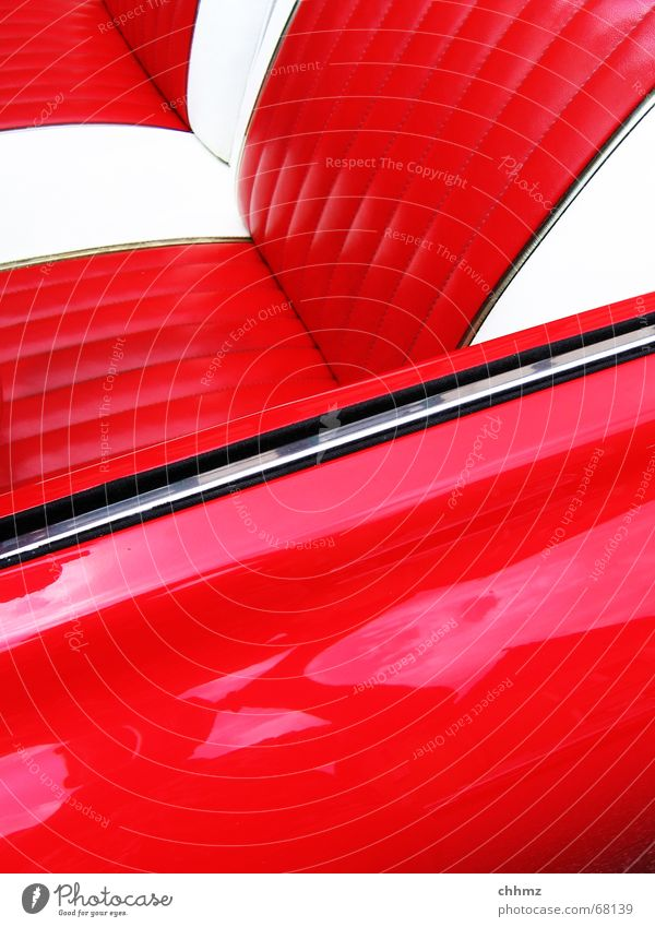 Red Car Americas Plastic Vehicle Nostalgia Seating Vintage car Varnish Iconic Chrome Backrest The fifties Convertible