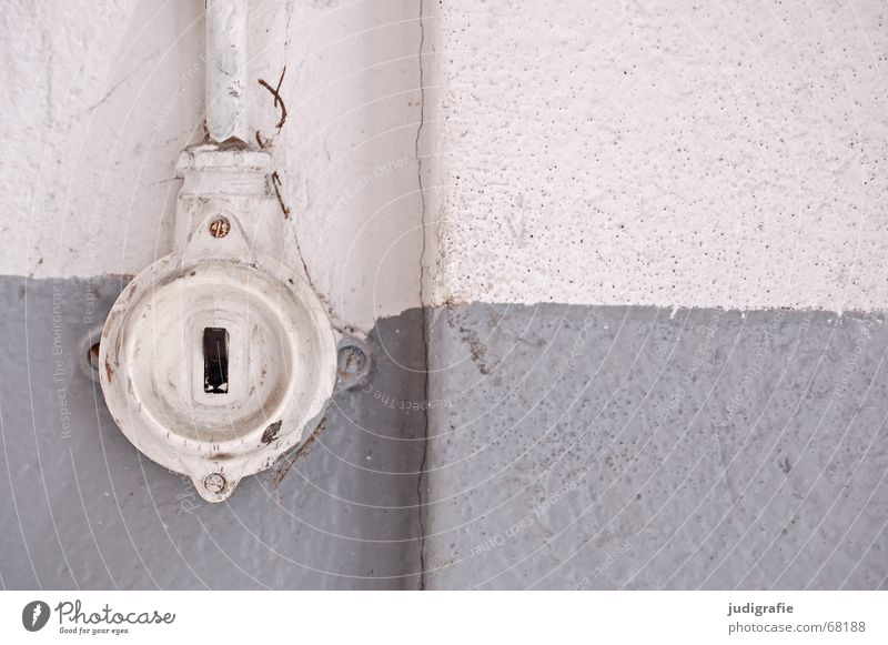 It's over! Divorce Past Switch Electricity Light Wall (building) Plaster Gray Black Relationship Lovesickness End from 1 Energy industry Colour Cable