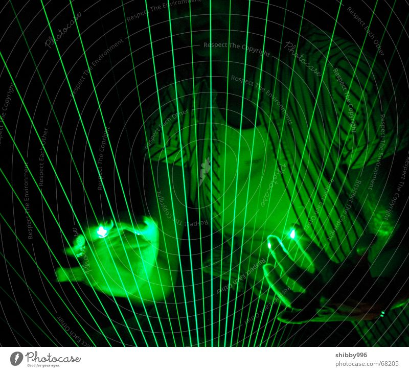 Green Lamp Music Dream Lighting Industrial Photography Laser
