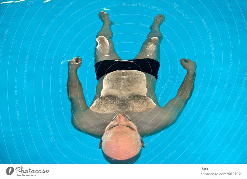 free float Healthy Wellness Harmonious Well-being Contentment Senses Relaxation Calm Meditation Swimming & Bathing Swimming pool Masculine Man Adults Life 1