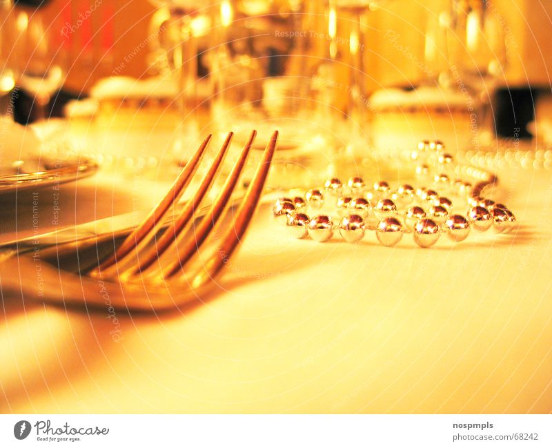 Yellow Table Restaurant Café Plate Fork Crockery