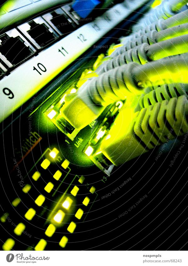 Green Cable Connection Computer network Information Technology Network cable