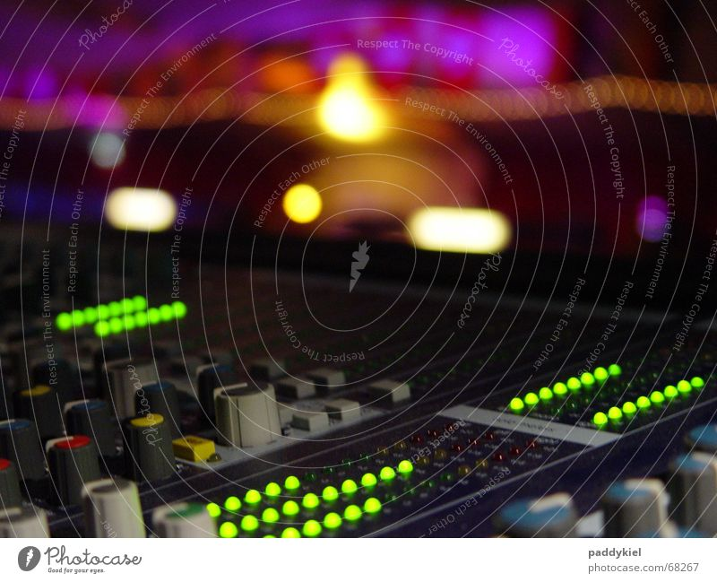 Good old Verona Mixing desk Bland Event Ambient Harmonious Volume Tone LED amp Level Beautiful Music