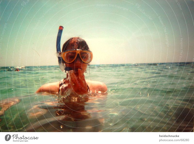 Ahoyhoi Swimming & Bathing Dive Snorkeling Ocean Sun Relaxation Recklessness Vacation & Travel Joy Wet Water Diving goggles Sea water Blue Leisure and hobbies