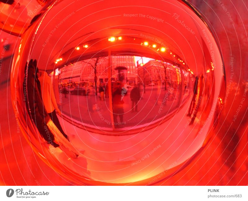 Red Decoration Mirror Sphere