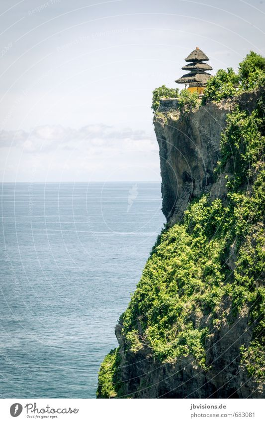 "Temple ""Pura Luhur Ulu Watu"" Landscape Rock Coast Ocean Island Bali Cliff Tourist Attraction Belief Far-off places Tall Vantage point Colour photo Exterior shot"