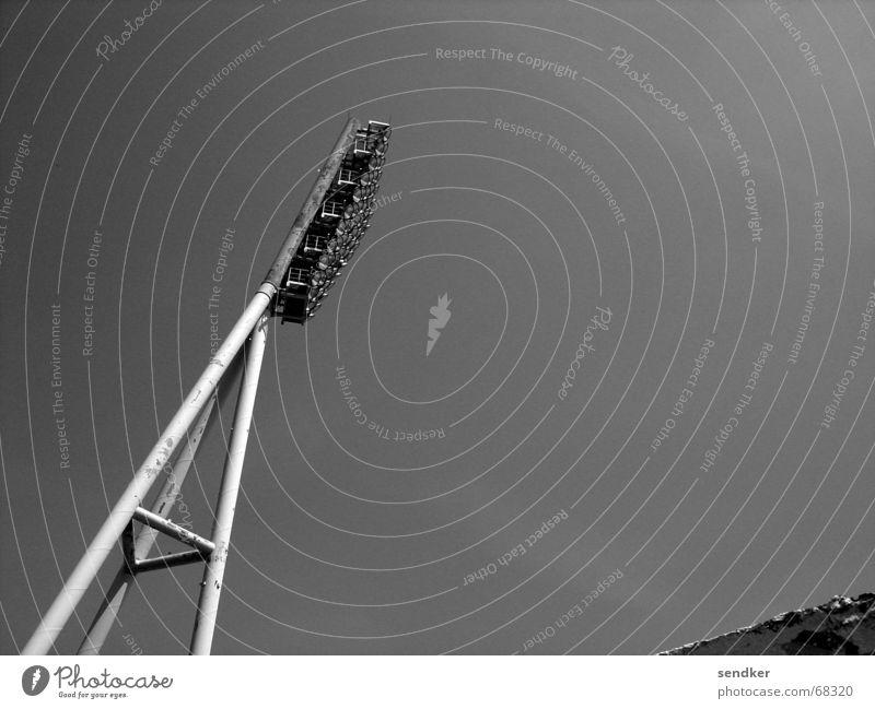wall park Retro Stadium Lamp Black & white photo Sky Far-off places Floodlight