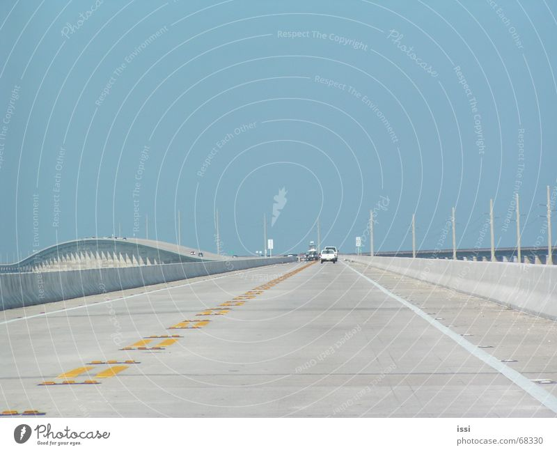 Sky Blue Street Bridge Highway Americas Florida Key West