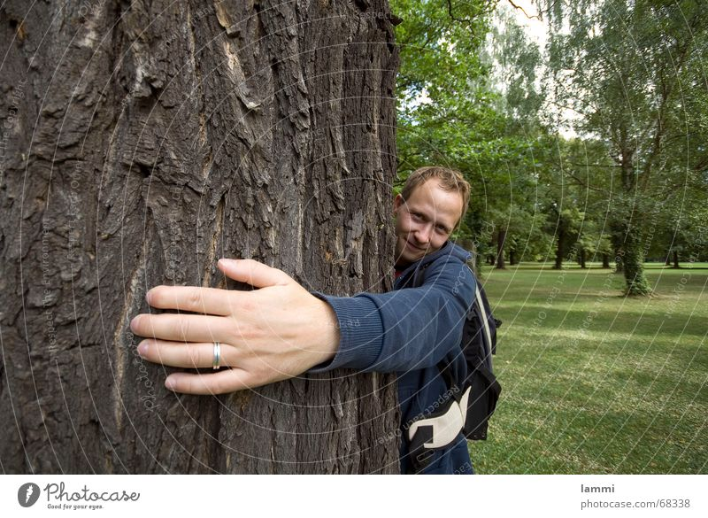 Nature Hand Green Tree Small Park Large Circle To hold on Protection Embrace Tree bark