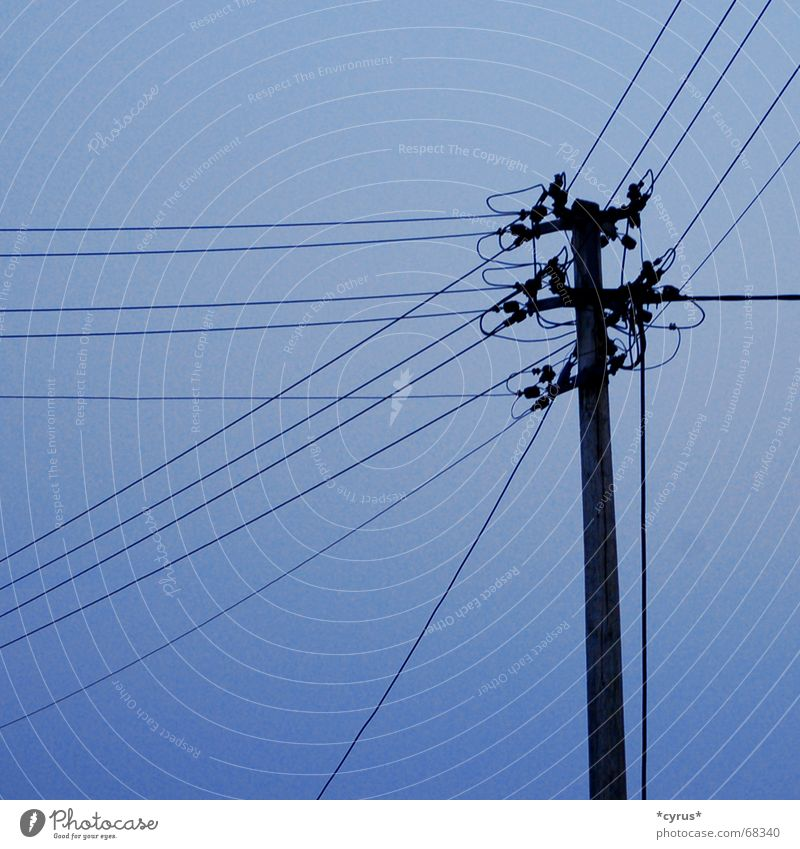 transmission line Electricity pylon High voltage power line Sky Transmission lines Blue