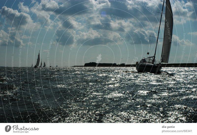 Clouds Waves Coast Success Sailing Netherlands Sport boats Ijsselmeer