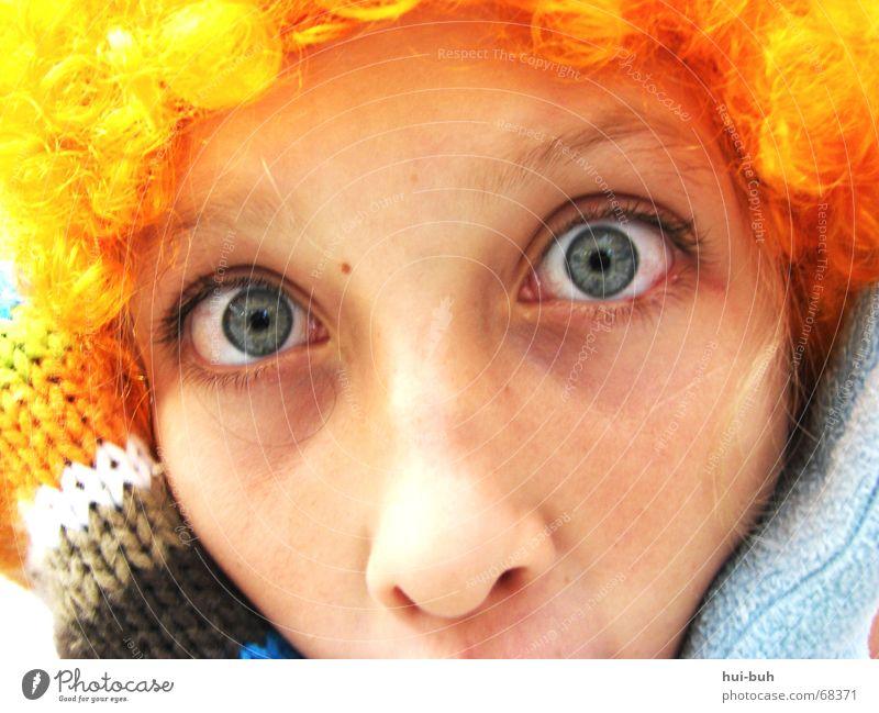 Joy Eyes Hair and hairstyles Nose Curl Surprise Joke Gloves Saucer-eyed Knitted
