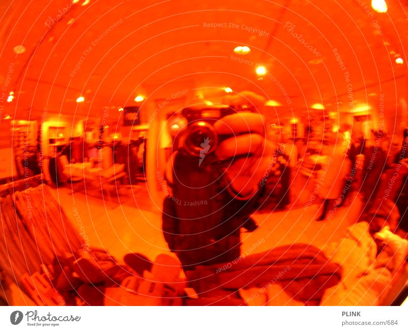 Hand Red Clothing Mirror Sphere Boutique Fisheye