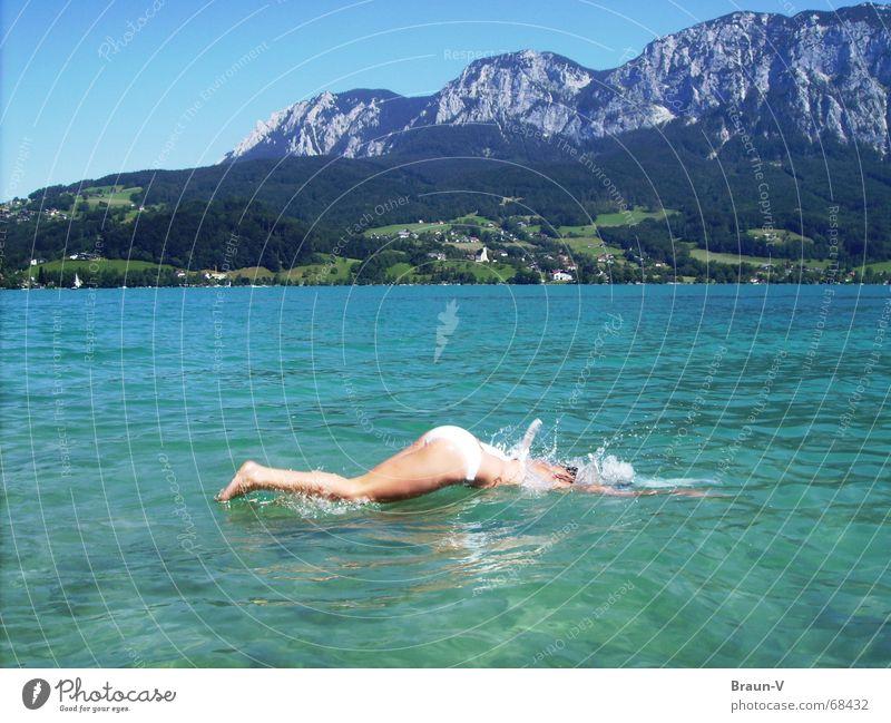 Platscher =D Summer Lake Bikini Jump Water Mountain Legs Back Swimming & Bathing