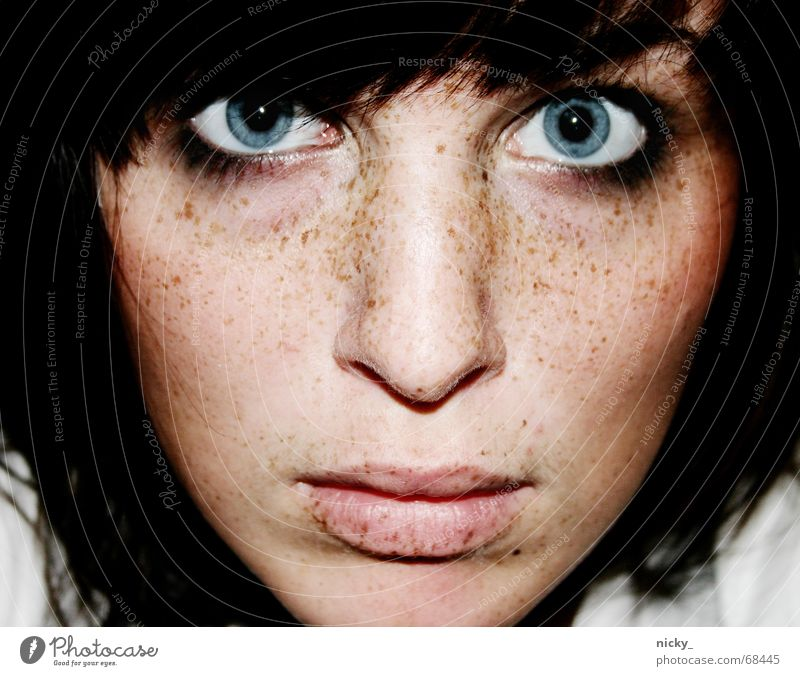 Woman Ocean Blue Face Eyes Colour Hair and hairstyles Mouth Nose Empty Lips Clarity Deep Cheek Self portrait Freckles