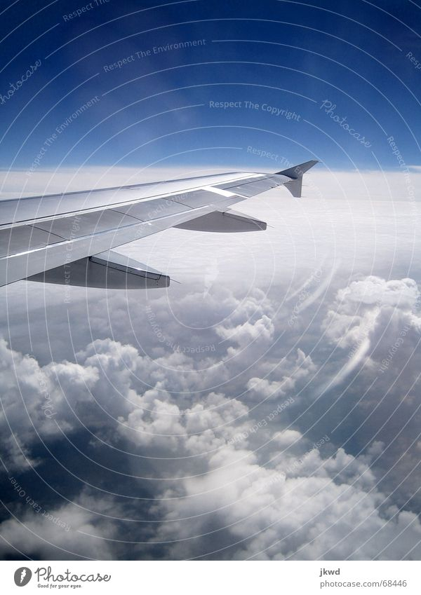 Sky White Blue Vacation & Travel Clouds Cold Freedom Metal Glittering Airplane Wing Clarity Technical Lens flare