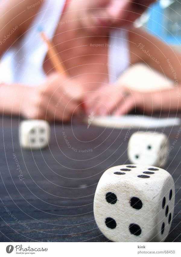 gambling Playing Throw dice 4 6 Digits and numbers Lose Duel Write Joy Happy Dice
