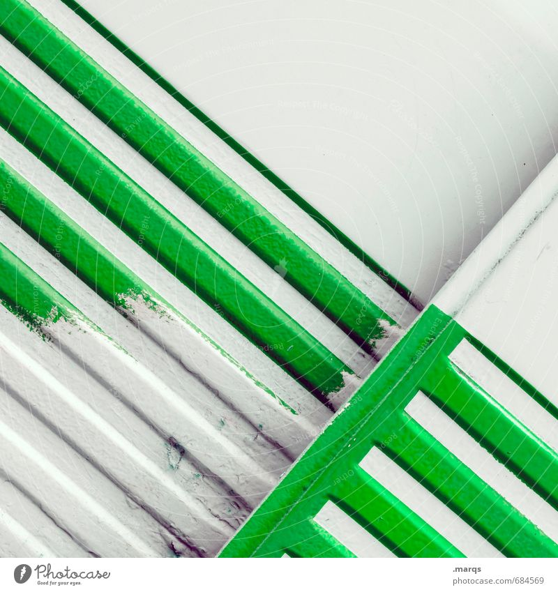 Green Colour White Style Line Metal Elegant Design Simple Illustration Uniqueness Tilt Trashy