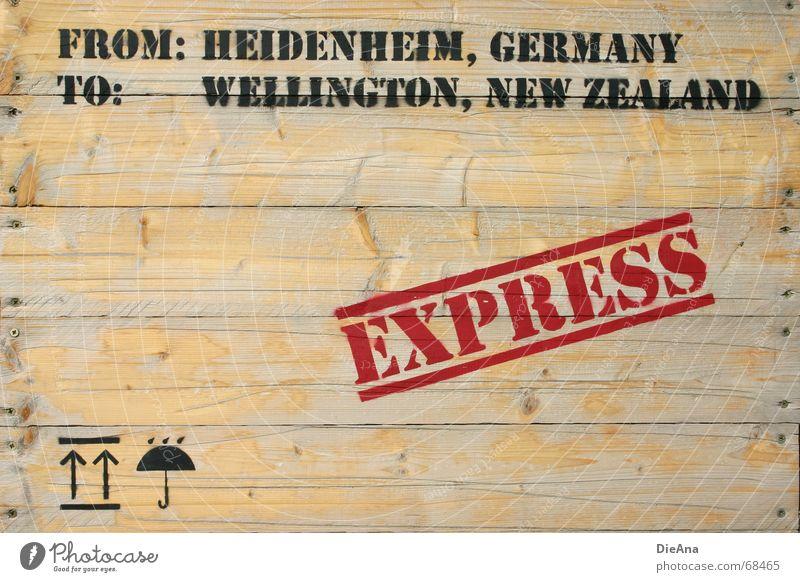 by express Crate Wood Delivery Symbols and metaphors Umbrella Typography Global New Zealand Germany Wellington Wood flour Illustration Arrow Screw heidenheim