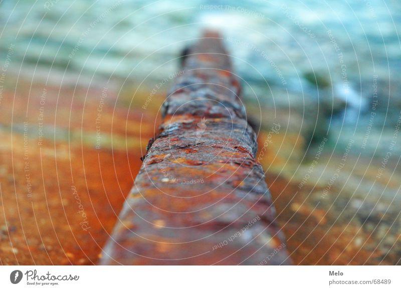 Ocean Red Beach Orange Railroad Putrefy Railroad tracks Rust