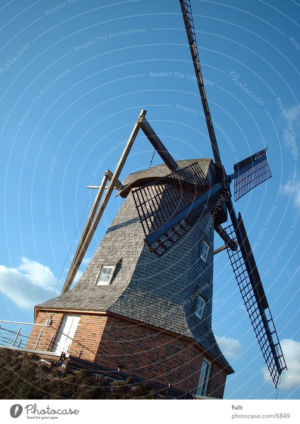 Wood Stone Historic Windmill